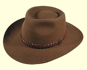 Cappello country tesa larga marrone