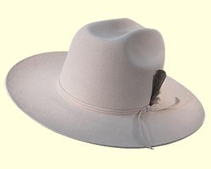 Cappello country tesa larga bianco