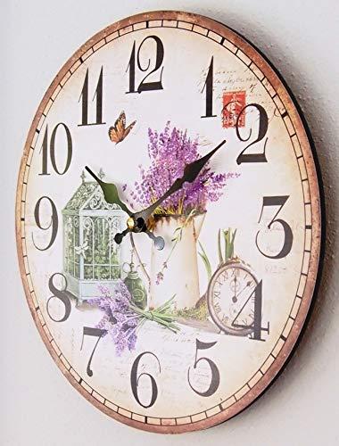 Perla pd design, orologio da parete da cucina, design giardino primaverile,  diametro ca. 28 cm