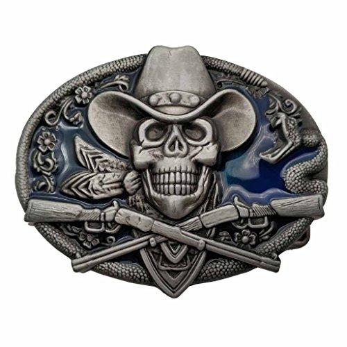 Bai You Mei Musica Chitarra Fibbie Per Cinture Retro Western Cowboy Uomo Fibbie Per Cinture